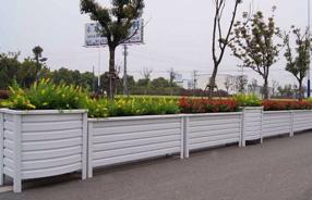 福建福州,5000米,木纹铝合金长条花箱