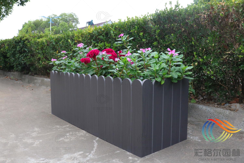 PVC仿木纹复合花箱